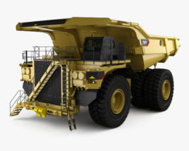 3D model of Caterpillar 797F Dump Truck with HQ interior 2009