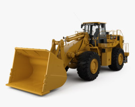 3D model of Caterpillar 988H Wheel Front Loader 2008
