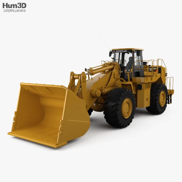 3D model of Caterpillar 988H Wheel Front Loader 2008