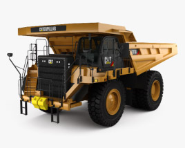 3D model of Caterpillar 777G Dump Truck 2012