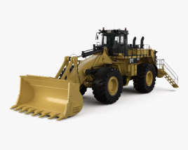 3D model of Caterpillar 992K Wheel Front Loader 2010