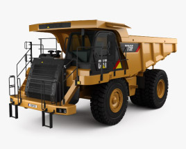 3D model of Caterpillar 775F Dump Truck 2018