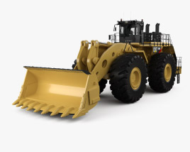 3D model of Caterpillar 994H Wheel Front Loader 2012