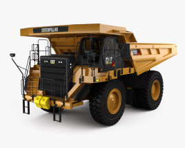 3D model of Caterpillar 777G Dump Truck with HQ interior 2012