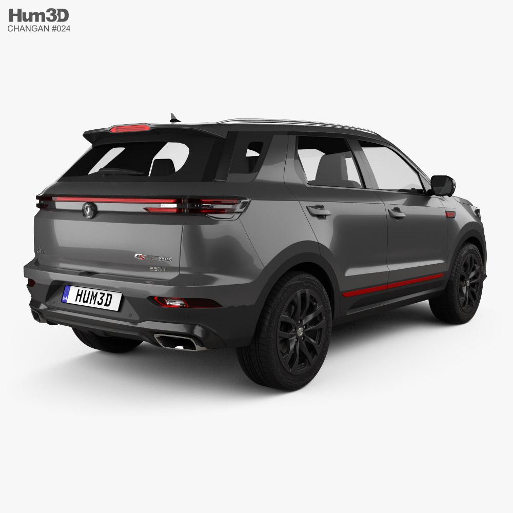Changan CS55 Plus 2021 3d model back view