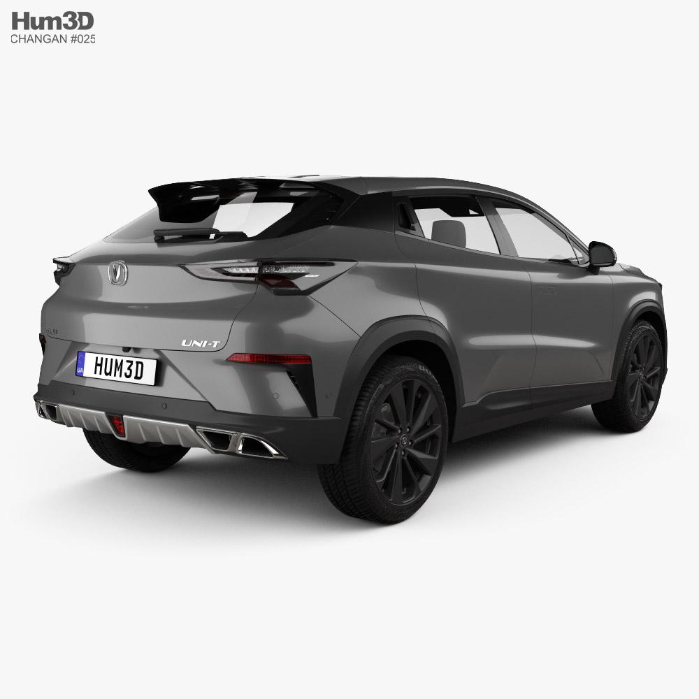 Changan Uni-t 2020 3d model back view