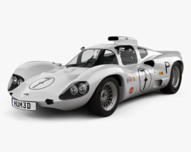 3D model of Chaparral 2D Race Car 1966