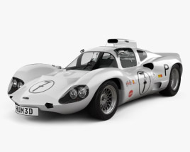 3D model of Chaparral 2D Race Car with HQ interior 1966