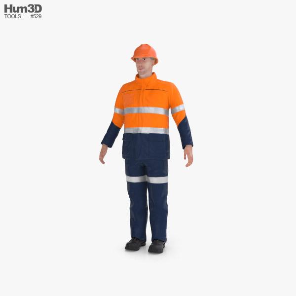 Workman Mining Safety 3D model