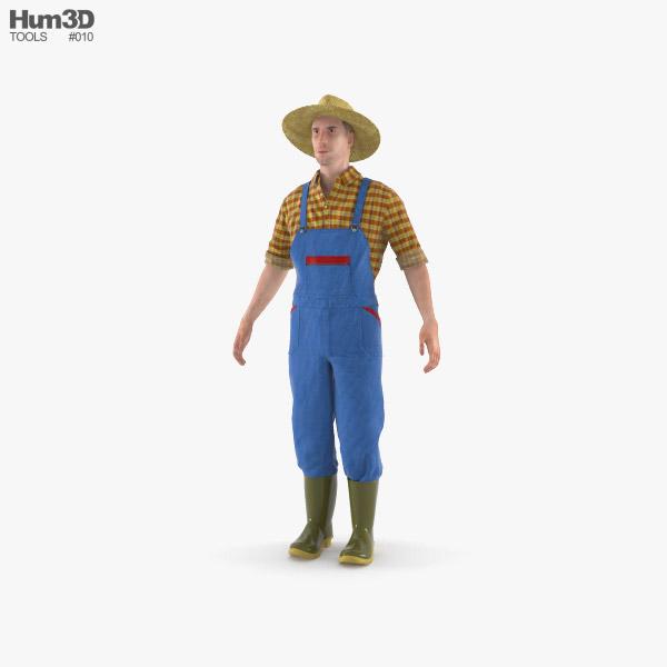 Farmer 3D model