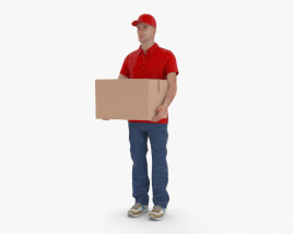 3D model of Delivery Man