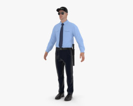 3D model of Security Guard