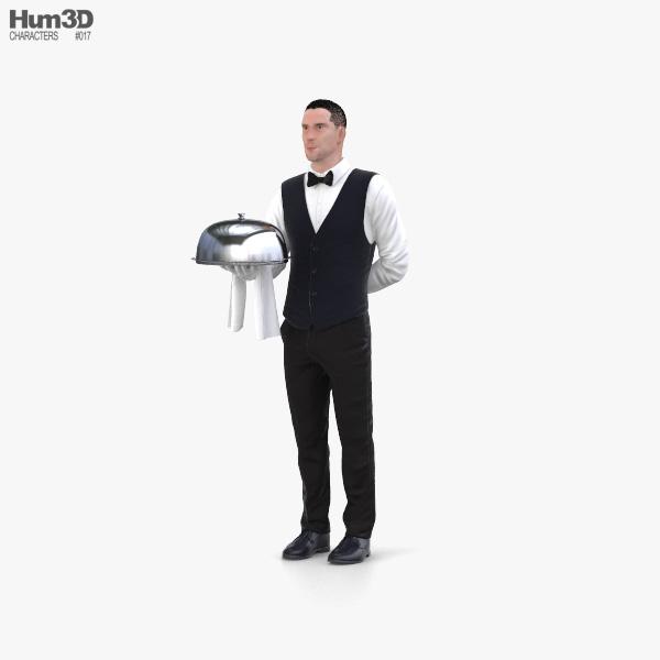 Waiter 3D model