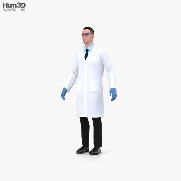 Scientist 3D model
