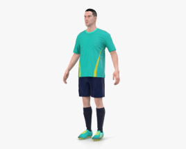 3D model of Soccer Player
