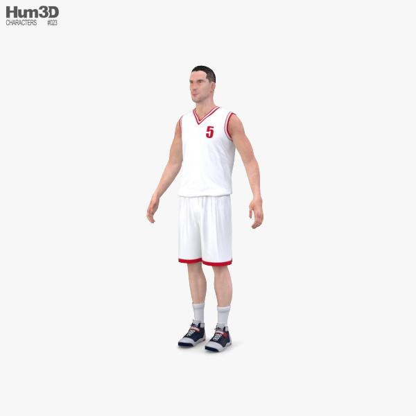 3D model of Basketball Player