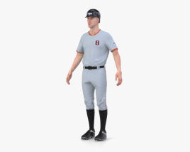 3D model of Baseball Player