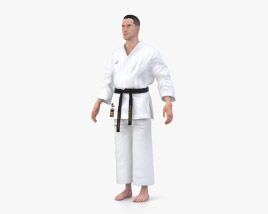 Karate Uniform 3D model