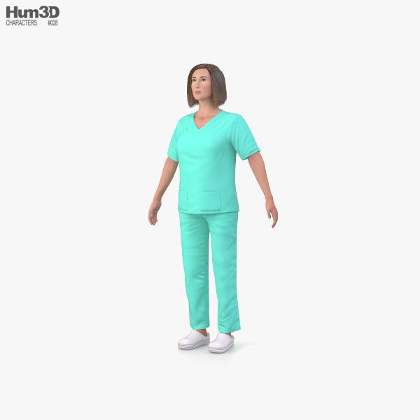 Nurse 3D model