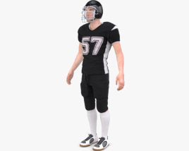 American Football Player 3D model