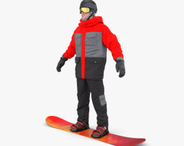 3D model of Snowboard Man