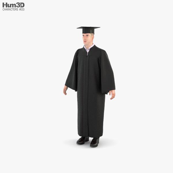 Graduate Student 3D model