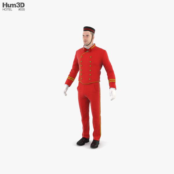 Hotel Porter 3D model