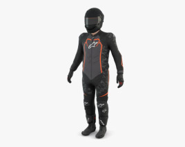 3D model of Motorcycle Rider