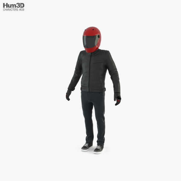 Urban Motorcycle Rider 3D model