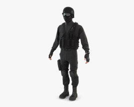 3D model of SWAT Policeman