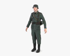 3D model of WW2 German Soldier