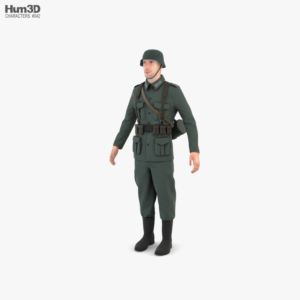 WW2 German Soldier 3D model