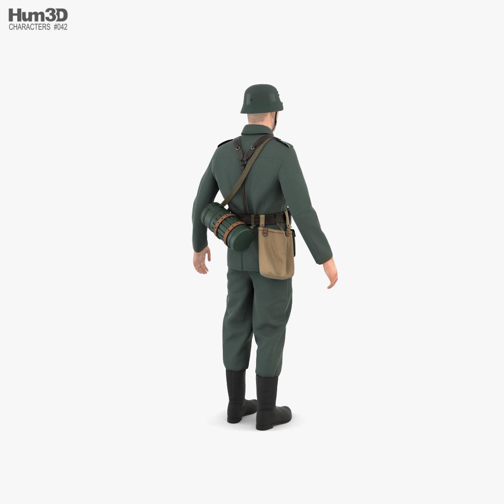 WW2 German Soldier 3d model