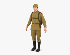 3D model of WW2 Soviet Soldier