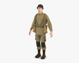 WW2 US Soldier 3D model
