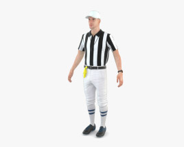 3D model of American Football Referee
