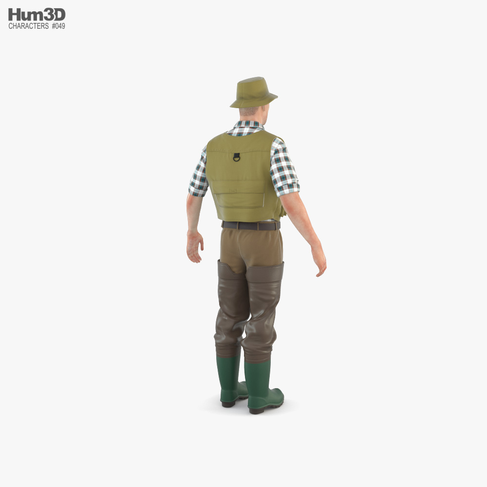 Fisherman 3d model