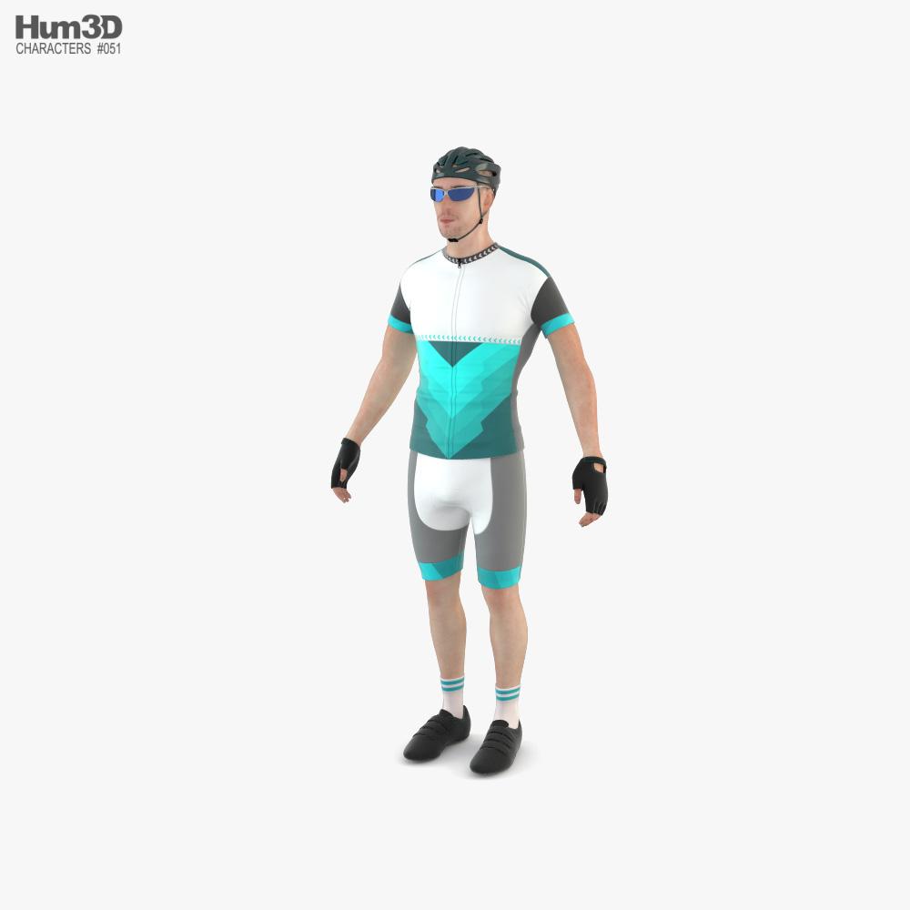 Racing Cyclist 3D model