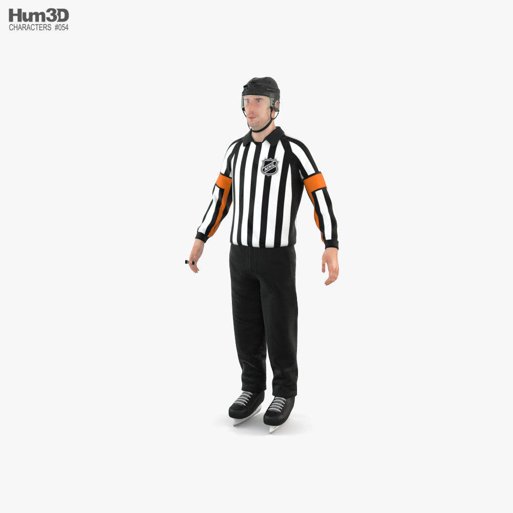 Hockey Referee 3D model