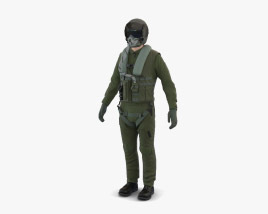 3D model of Jet Fighter Pilot
