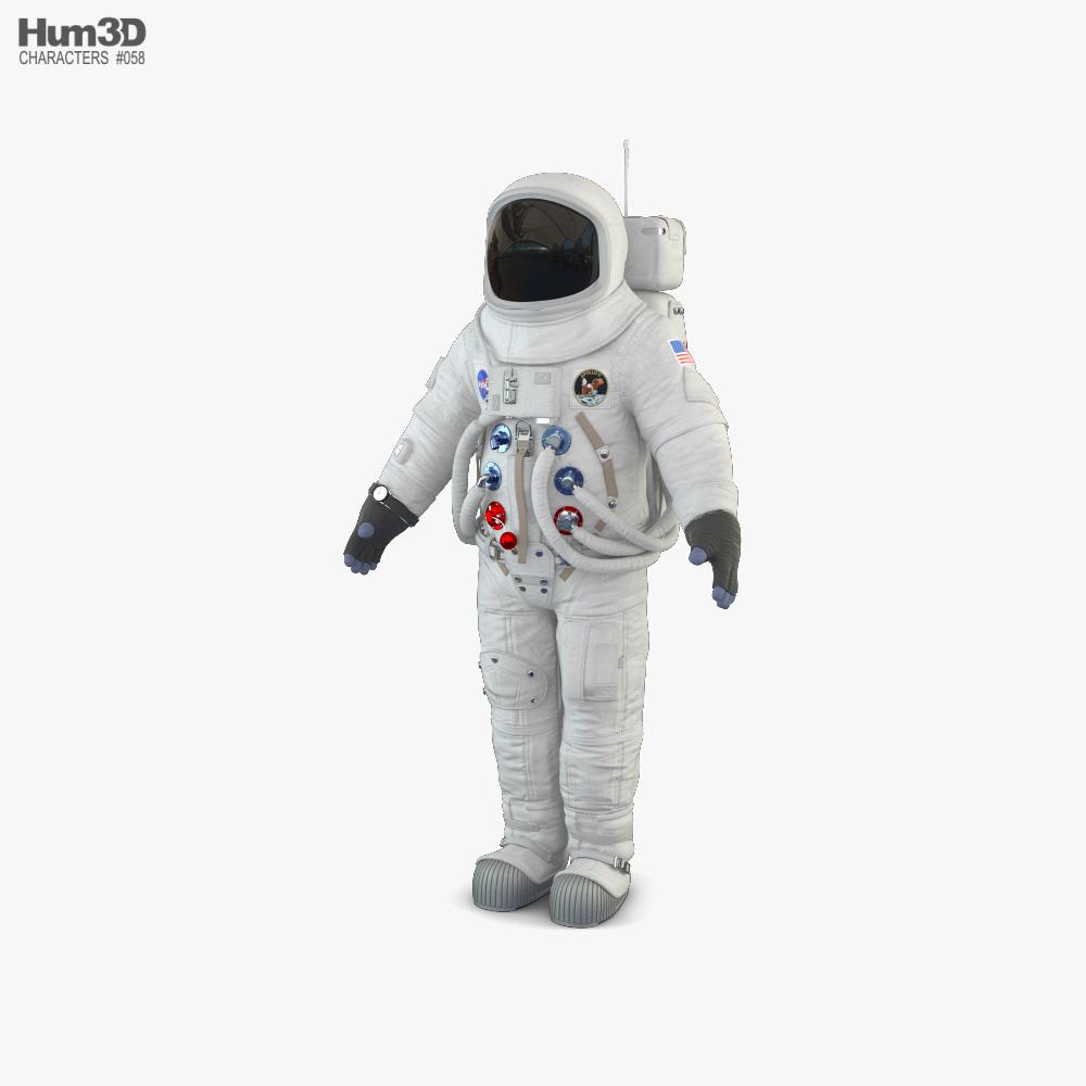 NASA Astronaut Apollo 11 3D model