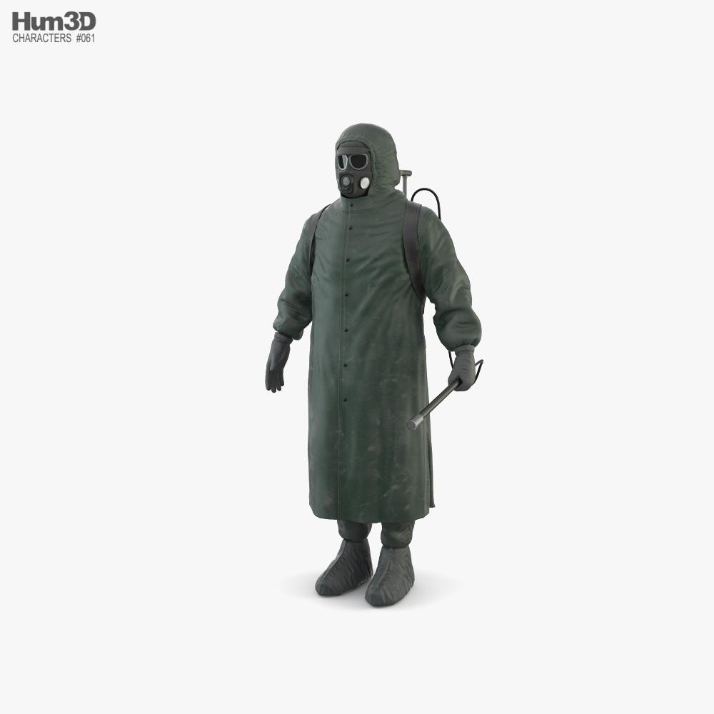 Hazmat Suit Chernobyl Liquidator 3D model