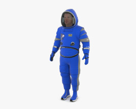Spacesuit Boeing Starliner 3D model