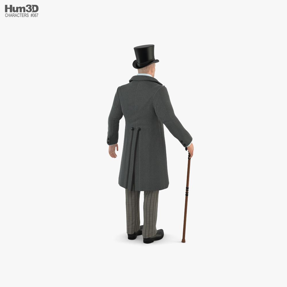 Victorian Man 3d model