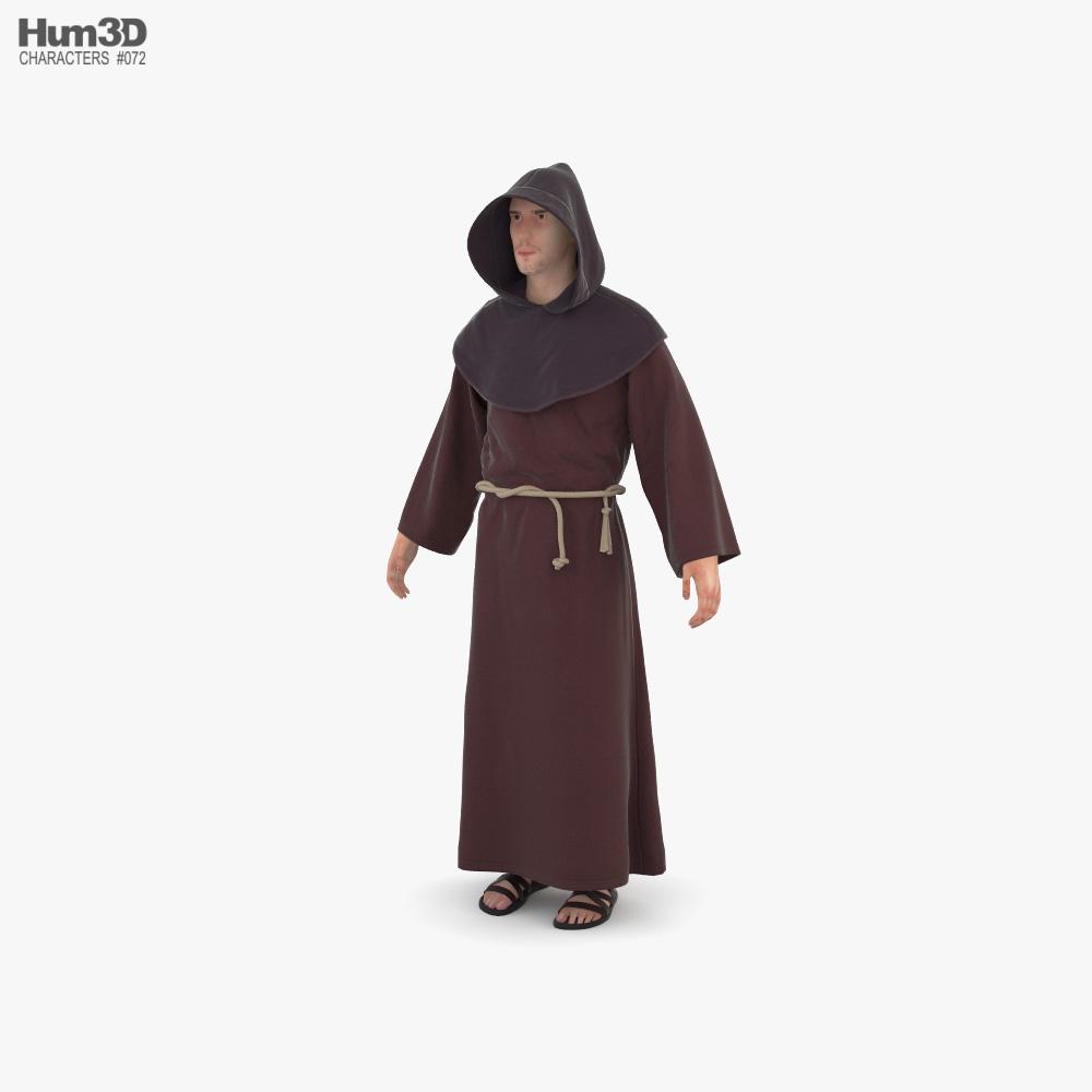 Catholic Monk 3D model