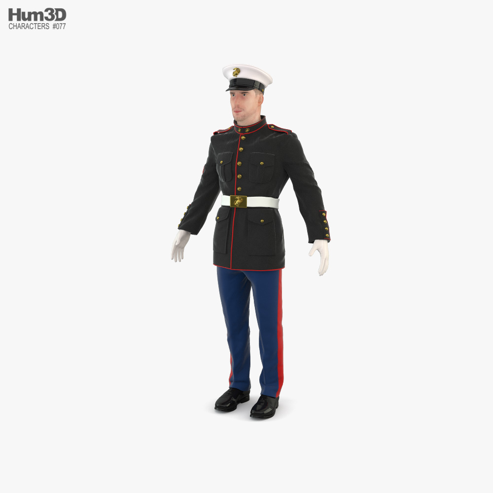 US Marine Corps Soldier 3D model
