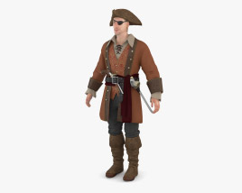 Capitaine Pirate Modèle 3D