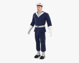 Navy French Soldier 3D model
