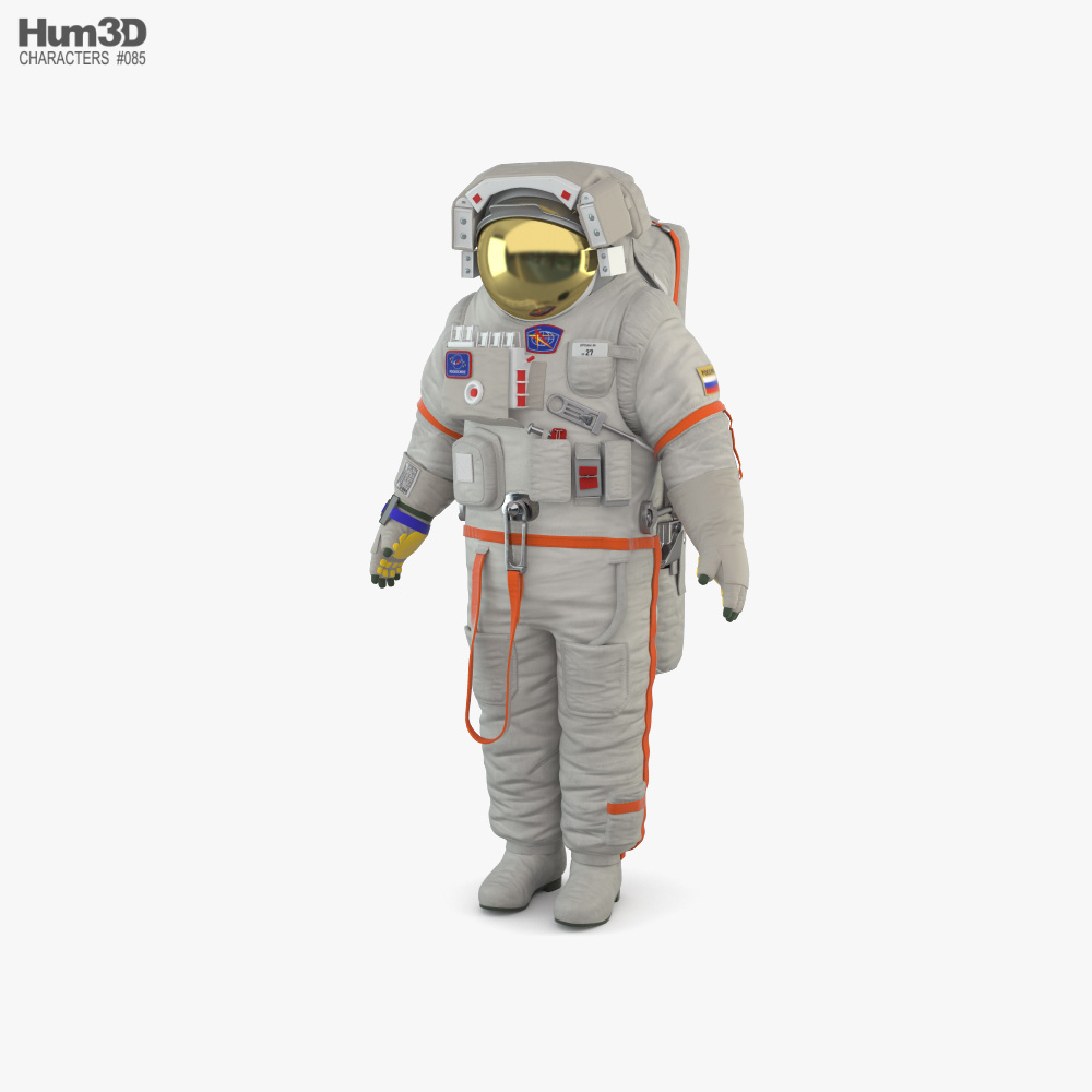 Space Suit Russian Orlan 3D model