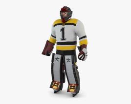 曲棍球守门员 3D模型